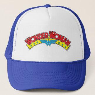 Wonder Woman 1987 Comic Book Logo Trucker Hat
