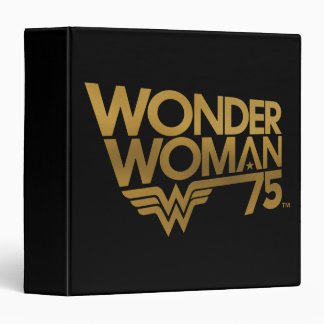 Wonder Woman 75th Anniversary Gold Logo Binder