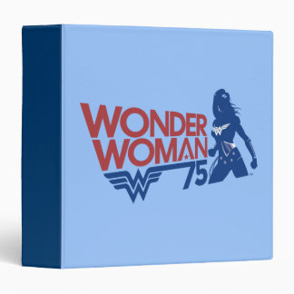 Wonder Woman 75th Anniversary Red & Blue Logo Binder
