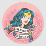 Wonder Woman Amazon Princess Round Sticker