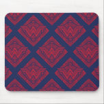 "Wonder Woman Amazonian Symbol Mouse Pad<br><div class=""desc"">Check out this Wonder Woman symbol,  decorated with a repeating Amazonian sun pattern.</div>"