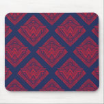"""Wonder Woman Amazonian Symbol Mouse Pad<br><div class=""""desc"""">Check out this Wonder Woman symbol,  decorated with a repeating Amazonian sun pattern.</div>"""