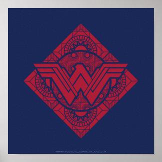 Wonder Woman Amazonian Symbol Poster