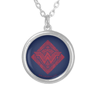 Wonder Woman Amazonian Symbol Silver Plated Necklace
