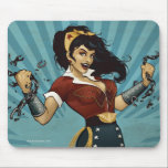"""Wonder Woman Amazonians Unite Vintage Poster Mouse Pad<br><div class=""""desc"""">The Wonder Woman DC Comics Bombshell in her 1940&#39;s inspiried outfit,  ripping apart chains,  rallying &quot;Amazonians Unite!&quot;.</div>"""