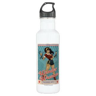 Wonder Woman Amazonians Unite Vintage Poster Water Bottle
