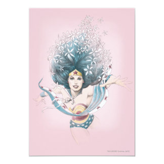 Wonder Woman and Flowers Card