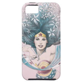 Wonder Woman and Flowers iPhone 5 Cases