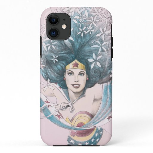 Wonder Woman and Flowers iPhone 11 Case