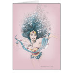 Wonder Woman and Flowers Greeting Card