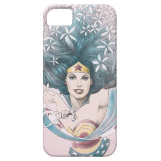 Wonder Woman and Flowers iPhone 5 Covers