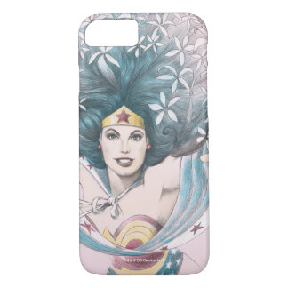 Wonder Woman and Flowers iPhone 7 Case