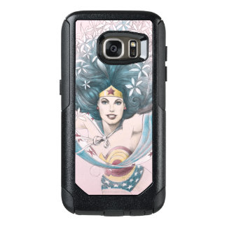 Wonder Woman and Flowers OtterBox Samsung Galaxy S7 Case