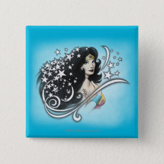 Wonder Woman and Stars Button