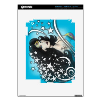 Wonder Woman and Stars Decals For iPad 3