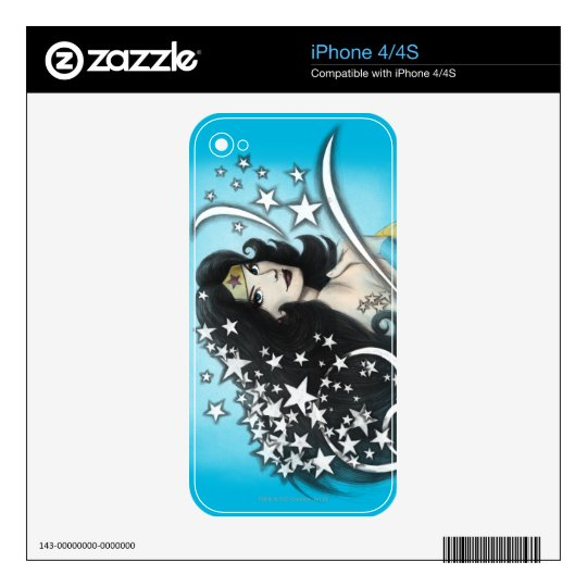 Wonder Woman and Stars Decals For iPhone 4S
