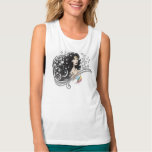 Wonder Woman and Stars Flowy Muscle Tank Top