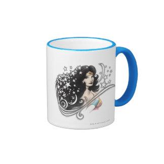 Wonder Woman and Stars Ringer Mug