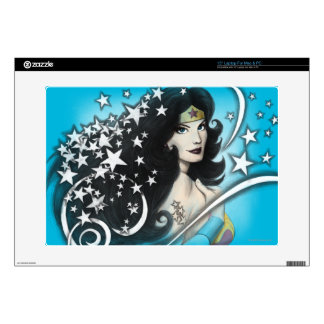 "Wonder Woman and Stars Skins For 15"" Laptops"