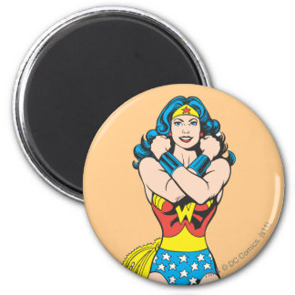 Wonder Woman Arms Crossed 2 Inch Round Magnet