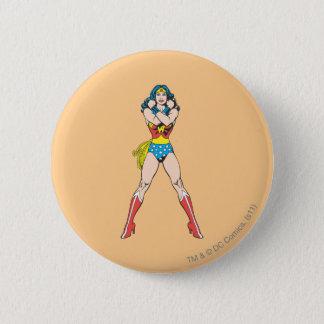 Wonder Woman Arms Crossed Pinback Button