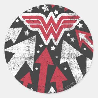 Wonder Woman Arrows Classic Round Sticker