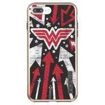Wonder Woman Shine Horiz iphone case