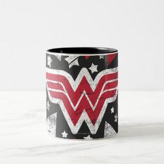 Wonder Woman Arrows Two-Tone Coffee Mug