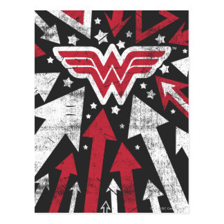Wonder Woman Arrows Postcard