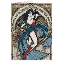 Wonder Woman Art Nouveau Panel