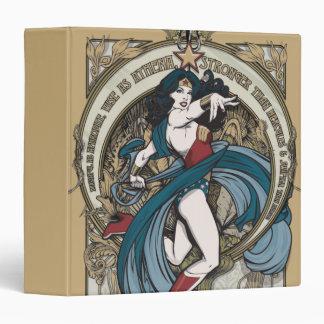 Wonder Woman Art Nouveau Panel 3 Ring Binder
