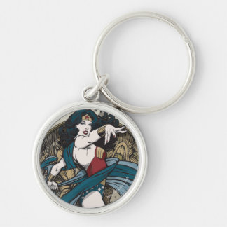 Wonder Woman Art Nouveau Panel Keychain
