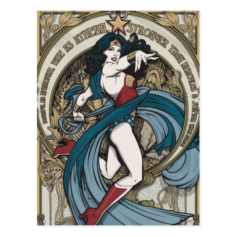 Wonder Woman Art Nouveau Panel