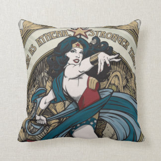 Wonder Woman Art Nouveau Panel Throw Pillow