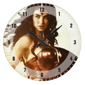 Wonder Woman At Sunset Large Clock