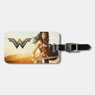 Wonder Woman At Sunset Luggage Tag
