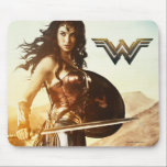 "Wonder Woman At Sunset Mouse Pad<br><div class=""desc"">Check out this iconic Wonder Woman movie poster art of Wonder Woman standing on a mountain side at sunset.</div>"