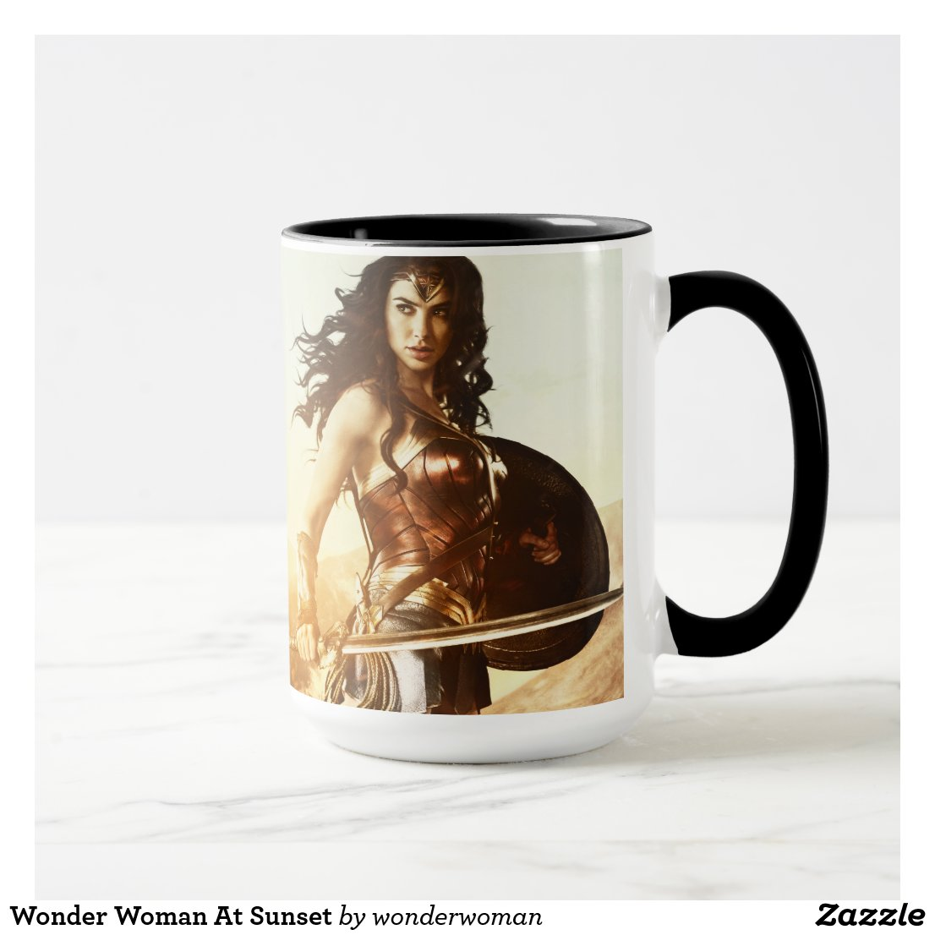 Wonder Woman At Sunset Coffee Mug