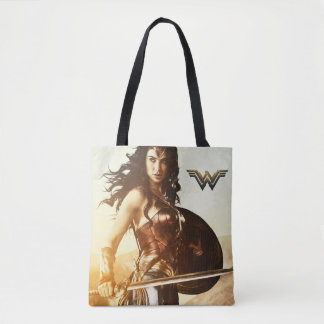 Wonder Woman At Sunset Tote Bag