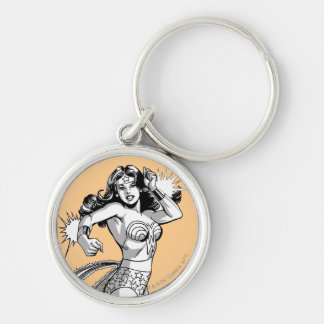 Wonder Woman B W Lasso 2 Key Chains