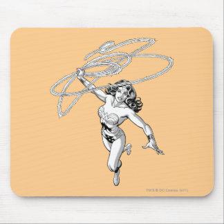 Wonder Woman B&W Lasso 4 Mouse Pad