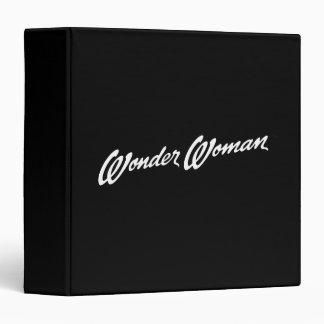 Wonder Woman  B&W Logo 1 3 Ring Binder