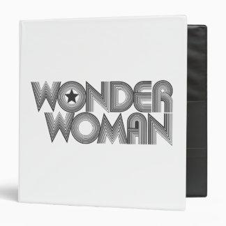 Wonder Woman B&W Logo 3 Binder