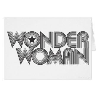 Wonder Woman B&W Logo 3 Greeting Cards
