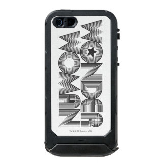 Wonder Woman B&W Logo 3 Incipio ATLAS ID™ iPhone 5 Case