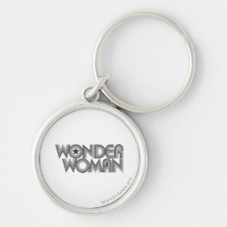 Wonder Woman B&W Logo 3 Keychain
