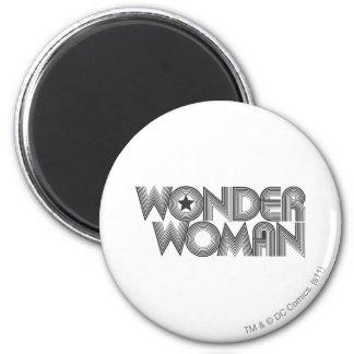 Wonder Woman B&W Logo 3 Refrigerator Magnets