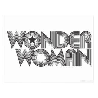 Wonder Woman B&W Logo 3 Postcards