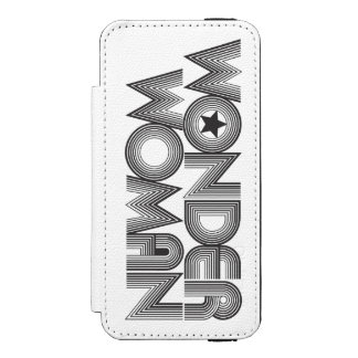 Wonder Woman B&W Logo 3 Wallet Case For iPhone SE/5/5s