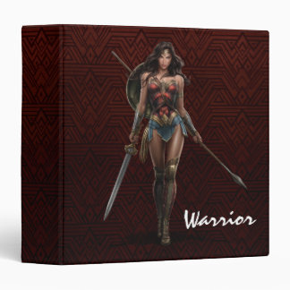 Wonder Woman Battle-Ready Comic Art 3 Ring Binder